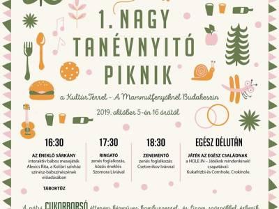 Piknikezzetek október 5-én a Mamutfenyőknél a KultúrTérrel!